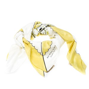 Burberry Burberry Bright Yellow London Landscape Print Silk Square Scarf