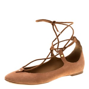 Chloé Suede Leather Brown Flats