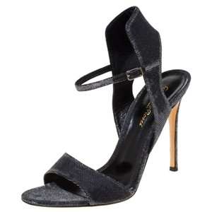 Gianvito Rossi Open Toe Ankle Strap Grey Sandals