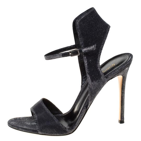 Gianvito Rossi Open Toe Ankle Strap Grey Sandals Image 1