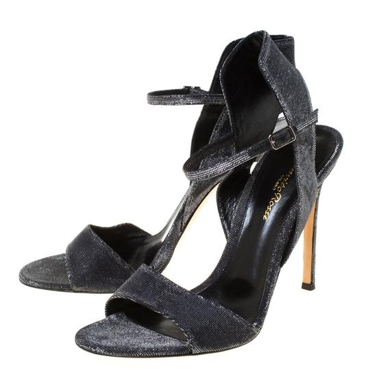 Gianvito Rossi Open Toe Ankle Strap Grey Sandals Image 2