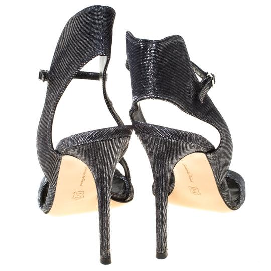 Gianvito Rossi Open Toe Ankle Strap Grey Sandals Image 4