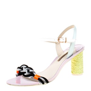 Sophia Webster Leather Ankle Strap Braided Multicolor Sandals