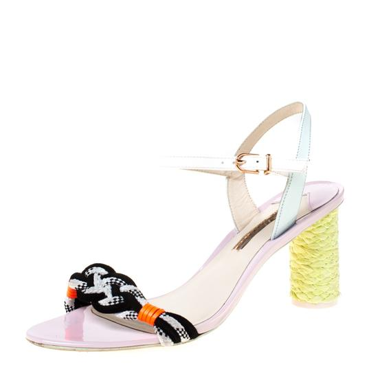 Sophia Webster Leather Ankle Strap Braided Multicolor Sandals Image 0