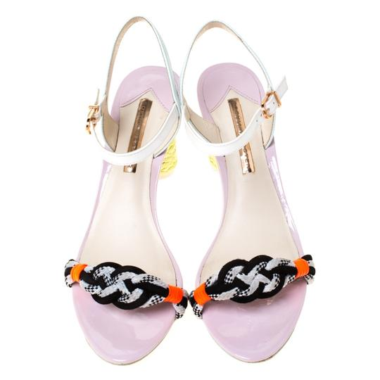 Sophia Webster Leather Ankle Strap Braided Multicolor Sandals Image 1