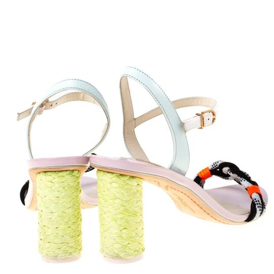 Sophia Webster Leather Ankle Strap Braided Multicolor Sandals Image 2