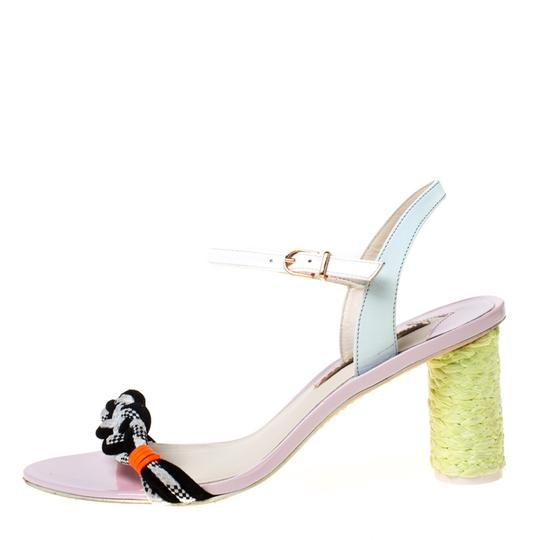 Sophia Webster Leather Ankle Strap Braided Multicolor Sandals Image 4