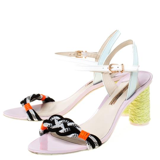 Sophia Webster Leather Ankle Strap Braided Multicolor Sandals Image 6