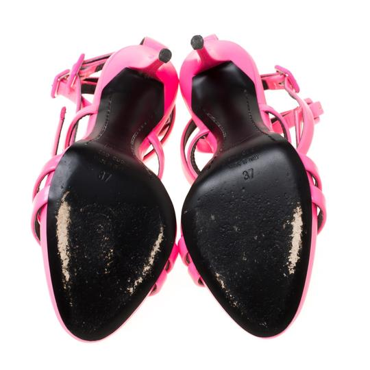 Giuseppe Zanotti Leather Ankle Strap Pink Sandals Image 3