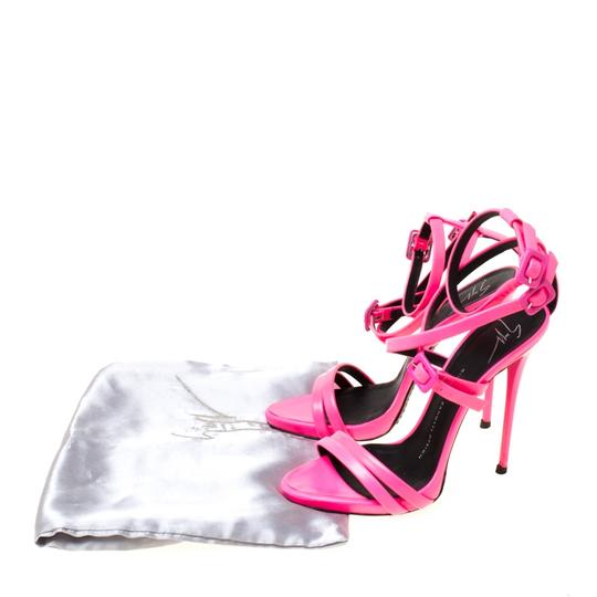 Giuseppe Zanotti Leather Ankle Strap Pink Sandals Image 7