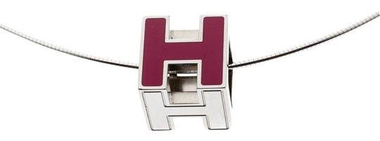 Preload https://img-static.tradesy.com/item/26000560/hermes-pink-cage-d-h-lacquer-palladium-plated-pendant-necklace-0-2-540-540.jpg