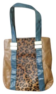 Hype Leather Horse Hair Tote in Multi