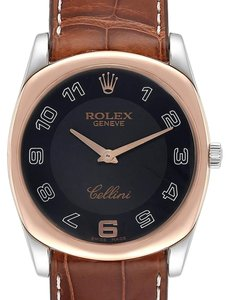 Rolex Rolex Cellini Danaos White Rose Gold Mens Watch 4233 Box Papers