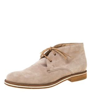Tod's Suede Leather Beige Boots