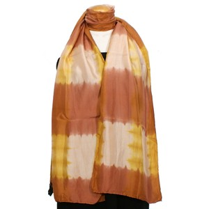 Eileen Fisher Coral Silk Shibori Road Scarf