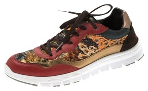 Dolce&Gabbana Leather Tweed Suede Multicolor Athletic