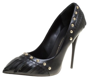 Giuseppe Zanotti Leather Studded Black Pumps