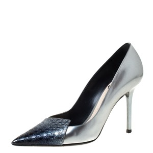 Dior Patent Leather Pointed Toe Grey Pumps
