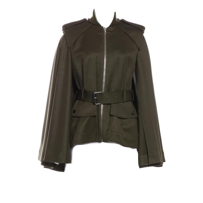 Item - New Olive Green Wool Cape Coat Jacket Size 6 (S)