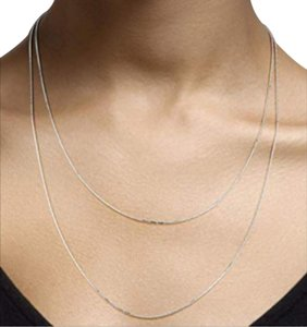 Other DIAMOND CUT SET OF 2 NECKLACE / 20 AND 24 INCH SNAKE CHAIN