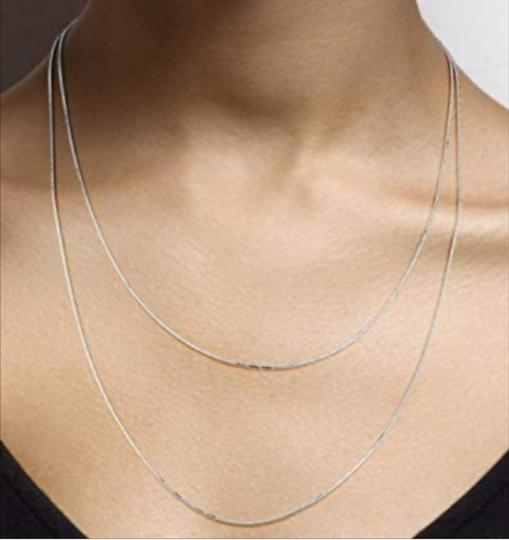 Other DIAMOND CUT SET OF 2 NECKLACE / 20 AND 24 INCH SNAKE CHAIN Image 2