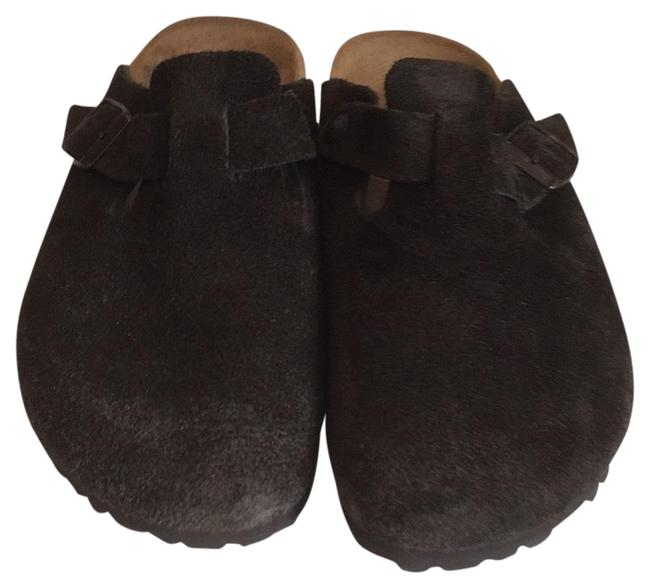 Item - Brown Boston Suede Mules/Slides Size EU 38 (Approx. US 8) Narrow (Aa, N)