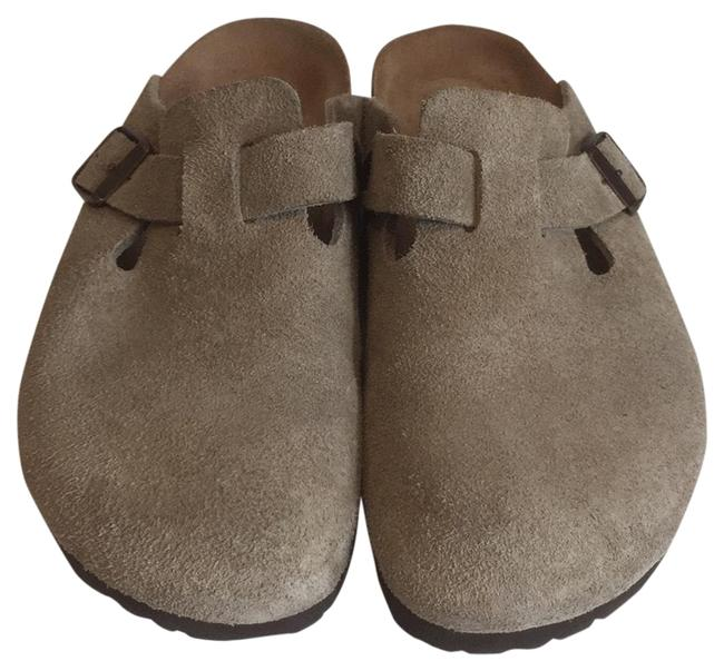 Item - Taupe Boston Suede Mules/Slides Size EU 38 (Approx. US 8) Narrow (Aa, N)