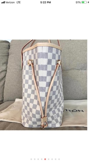 Louis Vuitton Monogram Leather Luxury European Limited Edition Tote in white Image 3