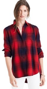 Madewell Button Down Shirt red