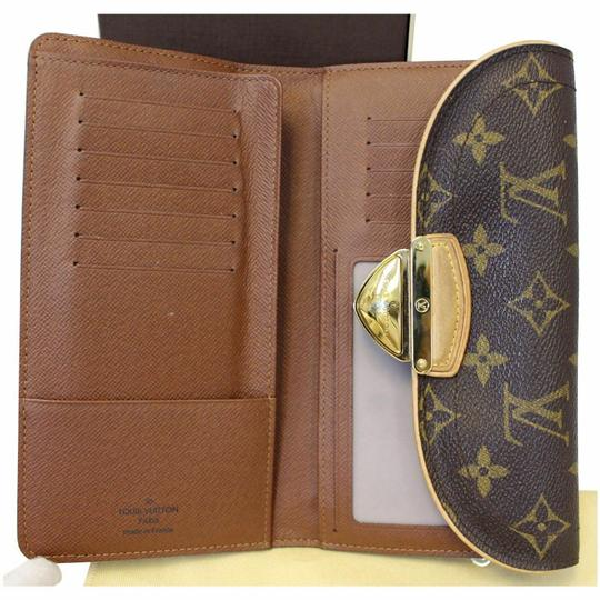 Louis Vuitton LOUIS VUITTON Eugenie Monogram Canvas Wallet Brown Image 11