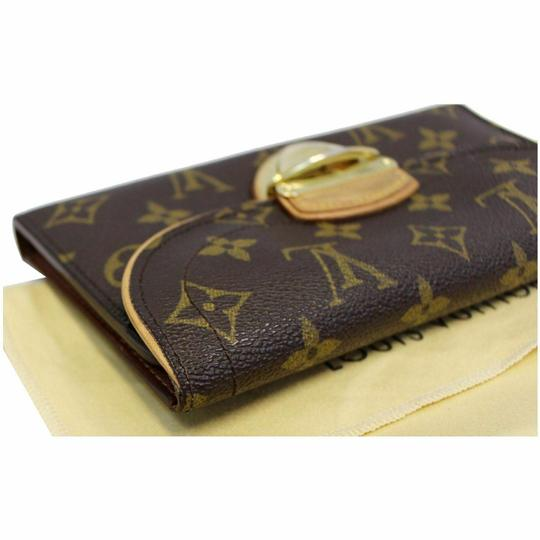 Louis Vuitton LOUIS VUITTON Eugenie Monogram Canvas Wallet Brown Image 5