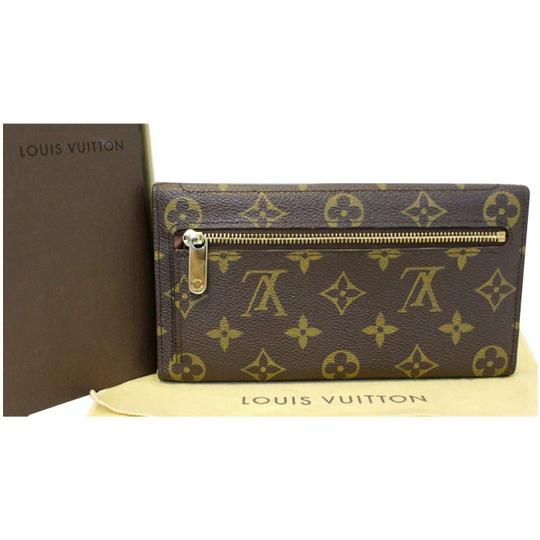 Louis Vuitton LOUIS VUITTON Eugenie Monogram Canvas Wallet Brown Image 9