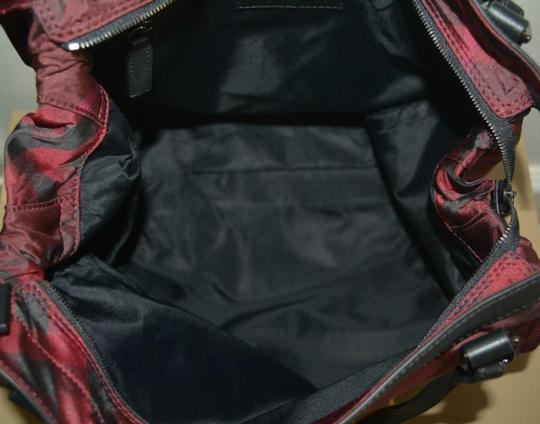 Burberry Check Overnight Packable Tote in Bright Burgundy Image 3