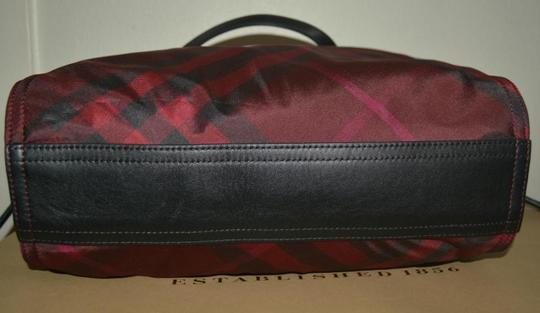 Burberry Check Overnight Packable Tote in Bright Burgundy Image 4