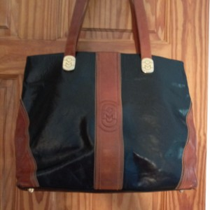 Marino Orlandi Tote in Black with brown accents