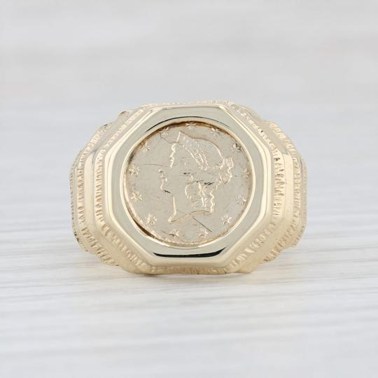 Other 1850 Golden Dollar Coin Ring - 10k 900 Size 8.25 Type 1 Civil War $1 Image 1