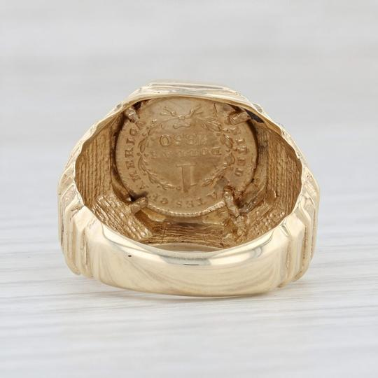 Other 1850 Golden Dollar Coin Ring - 10k 900 Size 8.25 Type 1 Civil War $1 Image 3