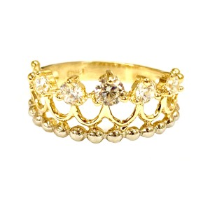 Other (2275) 14K Gold CZ Crown Ring
