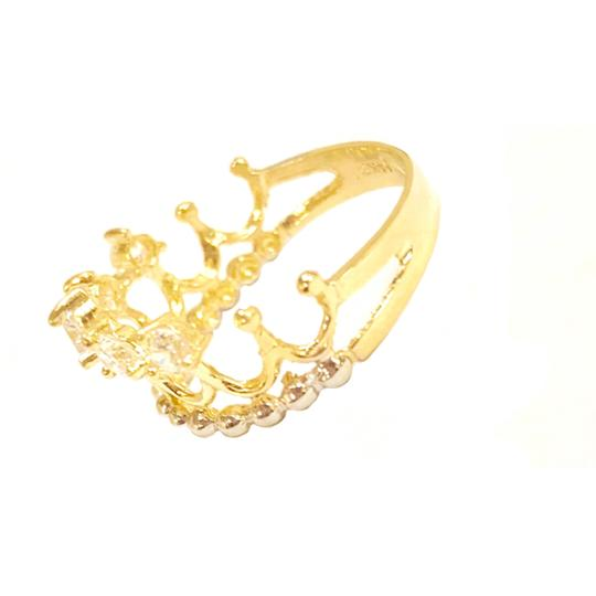 Other (2275) 14K Gold CZ Crown Ring Image 1