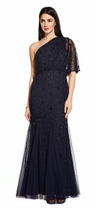 Adrianna Papell One Shoulder Beaded Embellished Dress