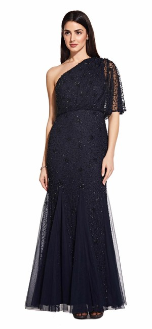 Preload https://img-static.tradesy.com/item/26001774/adrianna-papell-midnightblack-midnightblack-starburst-beaded-one-shoulder-long-formal-dress-size-8-m-0-0-650-650.jpg