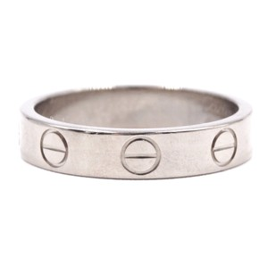 Cartier White gold Love band ring size 48 3.5mm wide Size 4.75
