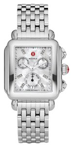 Michele Deco Stainless Steel Mother Of Pearl Diamond Dial Mww06p000014