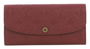 Louis Vuitton Leather Wallet magenta Clutch