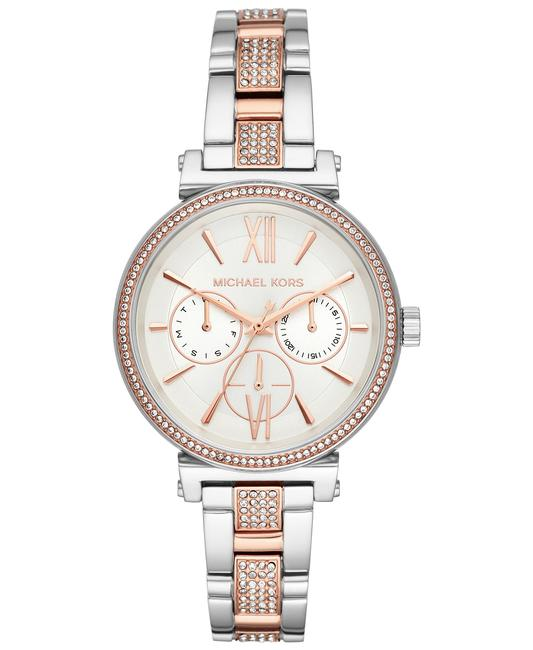 Item - Silver Rose Gold Mk4353 Sofie Two-tone Stainless Steel Bracelet Watch