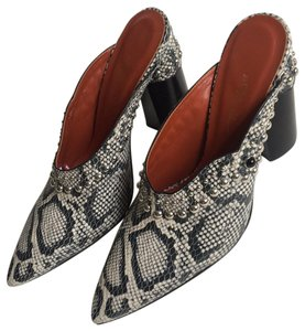3.1 Phillip Lim black and white snake print Mules