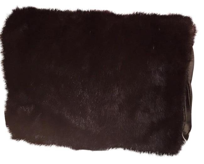 Item - Genuine Clutch/Muff Dark Brown Mink Fur Clutch