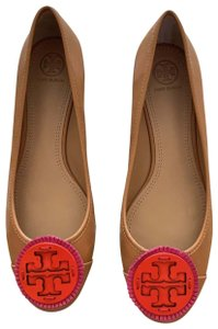 Tory Burch peanut butter, pink, reddish orange Flats