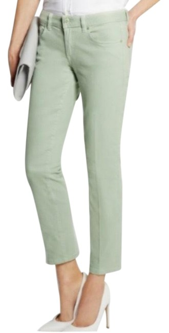 Item - Green Cropped Skinny Jeans Size 2 (XS, 26)