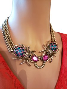 Betsey Johnson Betsey Johnson Double Spider Necklace